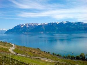 Das Gebiet Chablais am nordöstlichen Genfersee